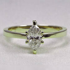 2 Ct Marquise Solitaire Engagement Wedding Promise Ring Solid 14K White Gold