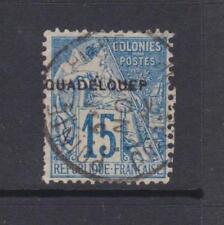 Guadeloupe-SG 26d-Occasion - 1891 - 15c-blue/bleu pâle en surcharge guadelouep
