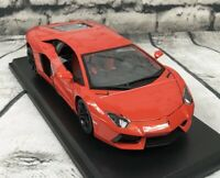 Lamborghini Aventador Coupe Orange Die Cast Maisto Special Edition 1:18 scale