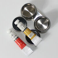 Artist Metal Double Palette Dipper Clip On Travel Paint Painting Pots Box Useful