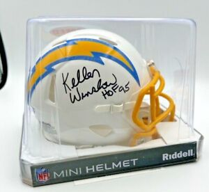 Kellen Winslow Auto Mini Helmet - San Diego Chargers - COA Included