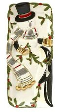 "Fitz and Floyd Mistletoe Merriment 13.25"" Elongated Christmas Holiday Tray New"