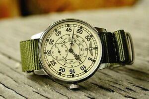 Pobeda Pilot Wings ZIM Men's Mechanical Wrist watch Soviet USSR MILITARY