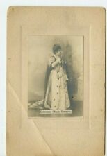 Vintage Cabinet Card Opera Singer or Actress Dressed as Empress Cyrillic Writing