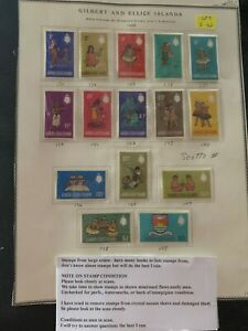 1968 Gilbert and Ellice Islands various stamps 1c 2c 3c 4c 5c 6c 8c Mint E42