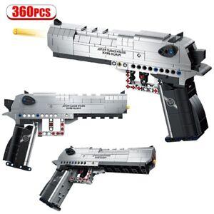 360 Pcs WEAPON GUN Model BUILDING BLOCKS Military Pistol Bricks FREE SHIPPING