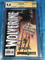Wolverine #98 - Marvel - CGC SS 9.4 NM - Signed by Adam Kubert, Larry Hama