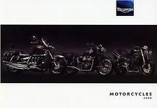 Triumph Prospekt 2008 Bonneville Rocket III 675SE America Tiger Motorradprospekt