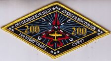 CVW-8 USS GEORGE W. BUSH 200 NIGHT TRAPS PATCH