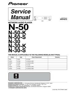 Service Manual-Anleitung für Pioneer N-50,N-30