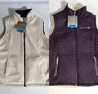 NWT Women's Free Country Quilted/Fleece Sherpa Reversible Vest Size Large