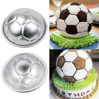 2pcs Aluminum Soccer Ball Cake Pan Tin 3D Sphere Ball Baking Pastry Mold Tools