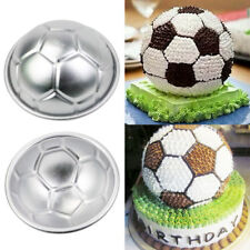 2pcs Aluminum Soccer Ball Cake Pan Tin 3D Sphere Ball Baking Pastry Mold Tools
