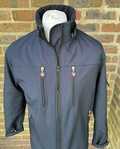 Wellensteyn FeuerLand Mens Navy Blue Outdoor Lightweight Jacket Size Medium
