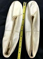 Antique Ladies White Kid-Leather Ballet Slipper SIZE 4 1/2 A Victorian-Edwardian