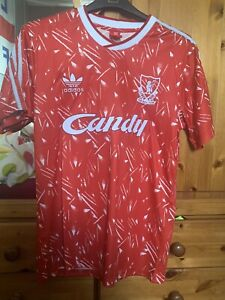 Retro Liverpool 1989 Candy Home football shirt. Sizes M, L , XL. BNWT