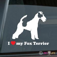 I Love My Fox Terrier Sticker Die Cut Vinyl - smooth wire