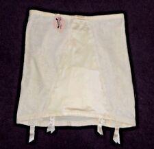USA XL NWT Girdle w/Garter Clips Open Bottom Hidden Panty Ivory VS Stockings