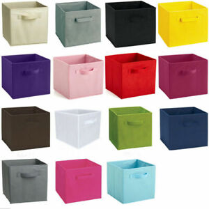 4pc Foldable Storage Boxes Collapsible Home Clothes Organizer Fabric Cube Basket