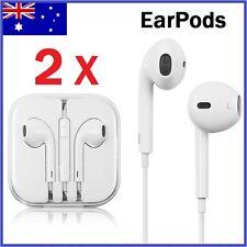 2 X EarPods Earphones Headphones with Mic Remote For Apple iPhone 5 6 7 iPad
