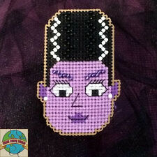 Cross Stitch Kit ~ Halloween Bride of Frankenstein Evie Buddy #K026