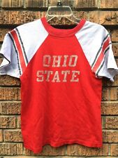 vtg 70s Champion Blue Bar Ohio State Buckeyes Osu jersey red t shirt Xs Usa