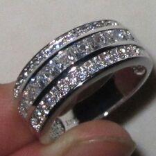 Elvis Presley 1967 Wedding Ring Band Silver with 37 Cut Stones CZ Graceland TCB