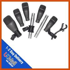 Samson DK707 7 Piece Drum Microphones Mic Kit | Kick, Snare, Toms & Overheads
