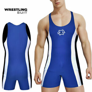 Men's Wrestling Suit  Mens Wrestling Sprinter Singlet Suit