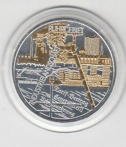 10 €  Goldapplikation - teilvergoldet   Ruhrgebiet  -  2003