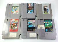 6 Game Nintendo NES lot Super Mario, Marble Madness, Dash Galaxy, Tiger Heli ++