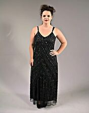 Hollywood Red Carpet Glittery Black Sequin Formal Gown - Size 14