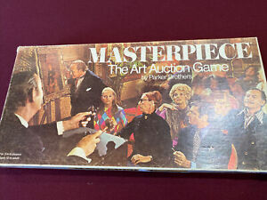 Masterpiece The Art Auction Game Parker Brothers Vintage 1970 Complete