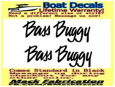 "Pair of (2) 4"" x 11.5"" Suntracker Bass Buggy Boat hull Decals. Marine Grade."