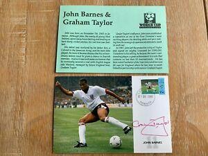 DOMINICA 1990 MAXICARD WORLD CUP FOOTBALL GRAHAM TAYLOR SIGNED JOHN BARNES
