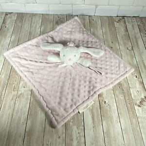Blankets & Beyond Pink Minky Dot Bunny Rabbit Plush Lovey Baby Pacifier Holder