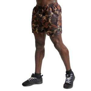 GORILLA WEAR BAILEY BROWN CAMO SHORTS WEIGHTLIFTING GYM SHORTS MEN'S 3X 4X 5X