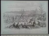 1896 Civil War Print - Union Camp at Stafford's Store, VA - Union Officers
