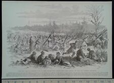 1896 Civil War Print - Union Camp at Stafford's Store, VA - Union Officers