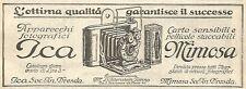 Y2879 Apparecchi fotografici ICA - Pubblicità del 1923 - Old advertising
