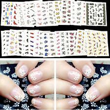 Fad 50 Sheets Nail Art Flower Water Transfer Stickers Nail Wraps Sticker Foil