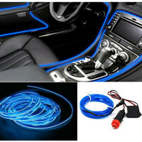 Blue 2M LED Car Interior Decor Atmosphere Wire Strip Light Lamp Car Accessories