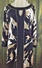 Style&Co. Women's Blouse Size Large Long Black 3/4 Sleeve