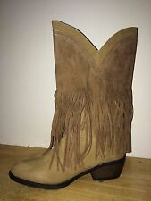 GC Shoes Women's Kelly Fringe Brown Boots Size 8 M Excellent!