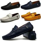 Men's Casual Cowhide Leather Slip On Loafers Moccasins Driving Shoes Size 44 New