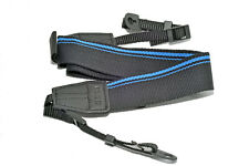 Kood High Quality Retro Style DSLR Camera Neck shoulder Strap Black /  Blue Trim