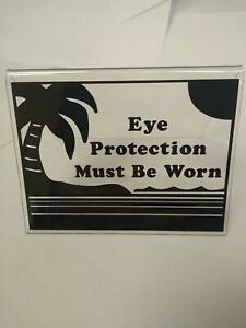 Eyewear Tanning Bed TENT Style  Sign 4.5 X 3.5 BLACK
