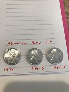 Aluminum Penny Lincoln Fantasy Coin Lot