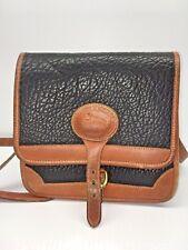 Vintage Dooney & Bourke Black Pebbled Leather Cross Body Medium Adjustable Good