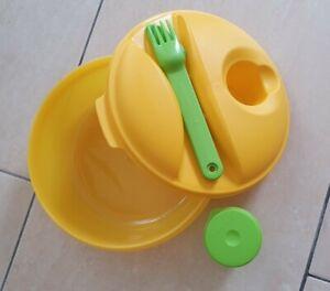Tupperware Salat to go gelb/grün 1,0 l, neu und unbenutzt